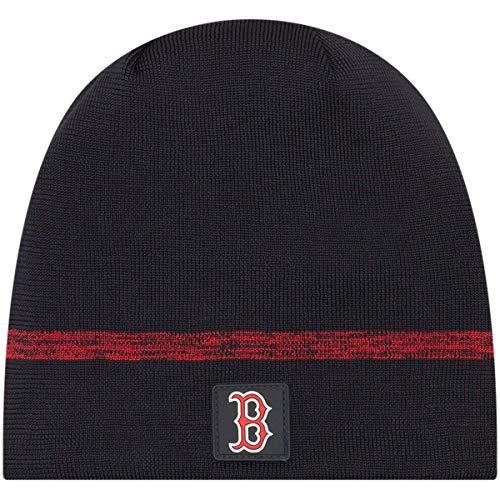 - New Era Authentic Boston Red Sox Club House No-Cuff Sport Knit MLB Onfield Sideline Beanie Unisex Hat Navy, OSFM