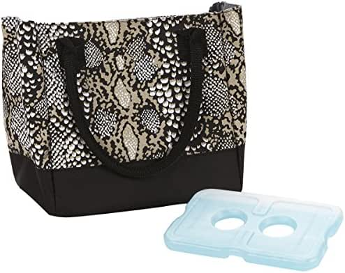 Fit & Fresh Women's Vienna Insulated Lunch Bag with Reusable Ice Pack (Taupe Reptile)