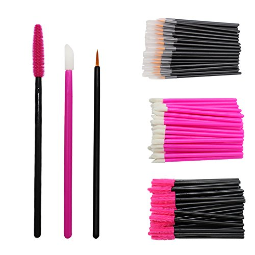 300 Pieces Brush Set, Disposable Eyelash Applicators Silicone Mascara Wands Lip Gloss Wand Lash Extensions Makeup Brush Tool Kit