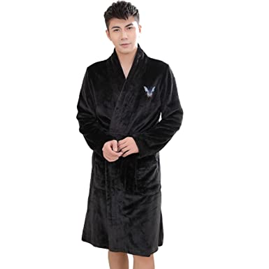 Amazon.com: Mens Robe Luxury Terry Towelling Bath Robes Dressing ...