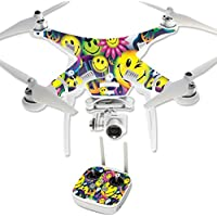 Skin For DJI Phantom 3 Professional – Peace Smile | MightySkins Protective, Durable, and Unique Vinyl Decal wrap cover | Easy To Apply, Remove, and Change Styles | Made in the USA
