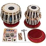 MAHARAJA Tabla Drum Set - Buy 3KG Black Brass Bayan, Finest Dayan with Book, Hammer, Cushions & Cover (PDI-EA)