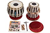 MAHARAJA Tabla Drum Set - 3KG Black Brass Bayan, Finest Dayan with Book, Cushions, Cover & Hammer (PDI-EA)