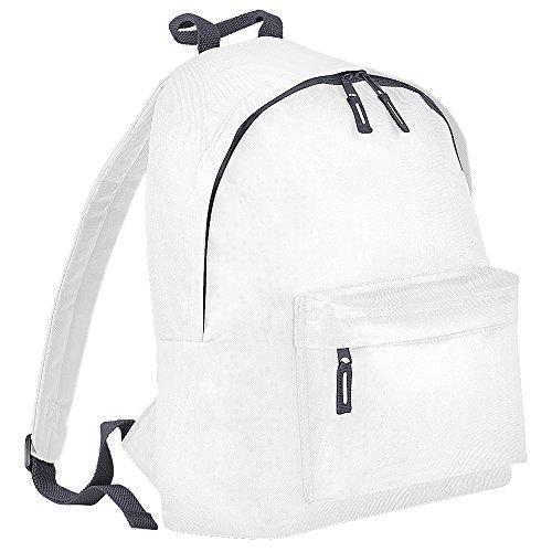 BagBase - Bolso mochila  para mujer Blanco/grafito