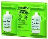 Honeywell 203-32-000462-0000 Saline Eye Wash Wall Station, 32oz Bottle, 2 Bottles/station