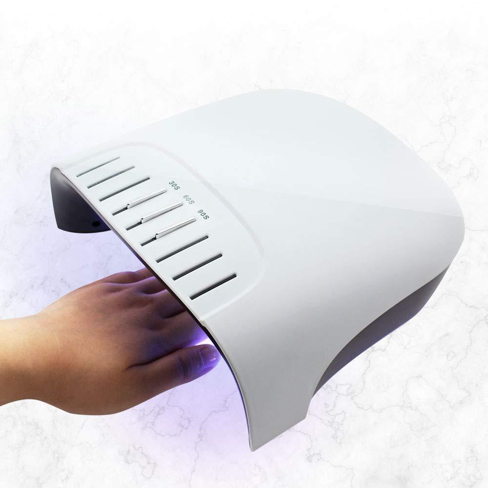 60ワットledネイルドライヤー内部アップグレード液晶タイマーとボタン36ピースuv led紫外線ネイルランプ用ゲルポリッシュネイルアートツール B07TK92MQY