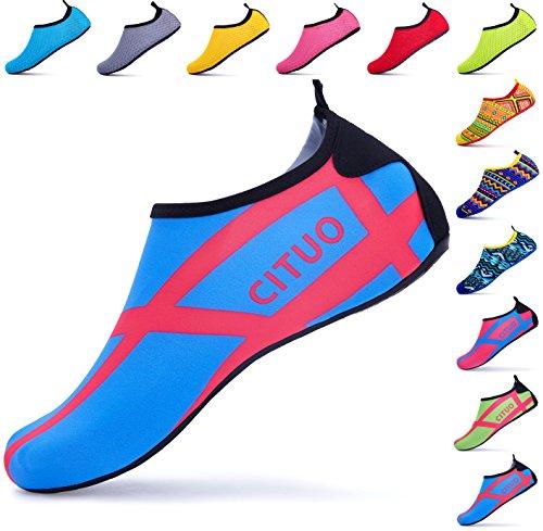 Giotto Descalzo Zapatos De Agua Yoga Beach Swim Aqua Zapatos Para Mujeres Hombres H-blue