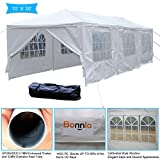 10x30 carport - VINGLI Bonnlo 10' x 30' Heavy Duty Canopy Wedding Party Tent with 8 Removable Sidewalls,Upgraded Steady Sunshade Winter Snow Shelter Outdoor Carport Event Gazebo Pavilion,w/ Carrying Bag