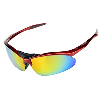 Hombres y mujeres gafas de sol anti-UV bicicleta de montar gafas de deporte al