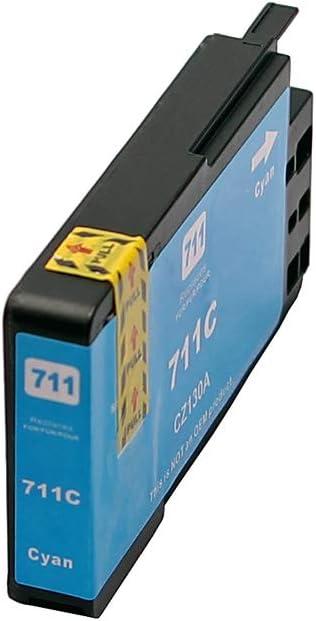 123tintetoner – Cartuchos de Tinta para HP 711 T120 T520, color azul: Amazon.es: Oficina y papelería
