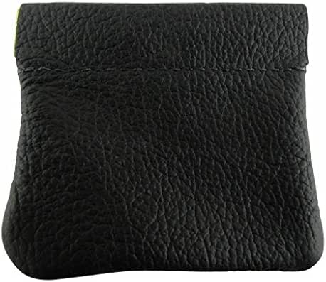 AimTrend Men's Leather Squeeze Coin Pouch Change Holder