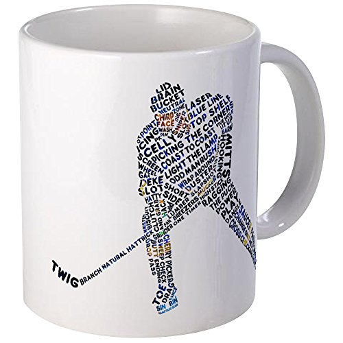 (CafePress Hockey Player Typography Mug Unique Coffee Mug, Coffee Cup)