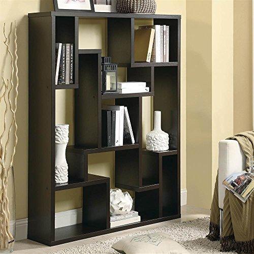 Coaster Furniture Asymmetrical Bookshelf Cappuccino