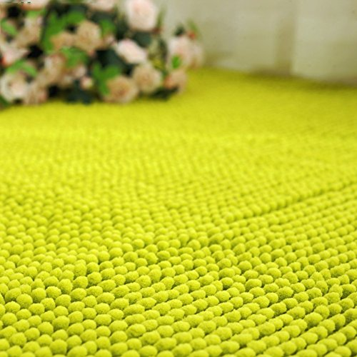 HOMEE Short Hair Chenille Mat/Toilet Indoor Mat/Kitchen/Bathroom Waterbsorbing Antilip Mat,D,100X150Cm(39X59Inch) by HOMEE