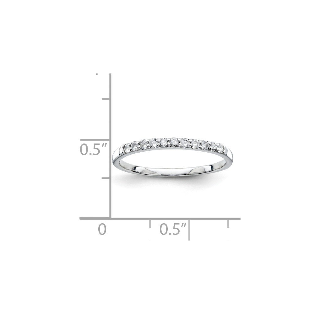 925 Sterling Silver Diamond Half Eternity Wedding Band for Women Size 7 (0.20ct, H-SI2)