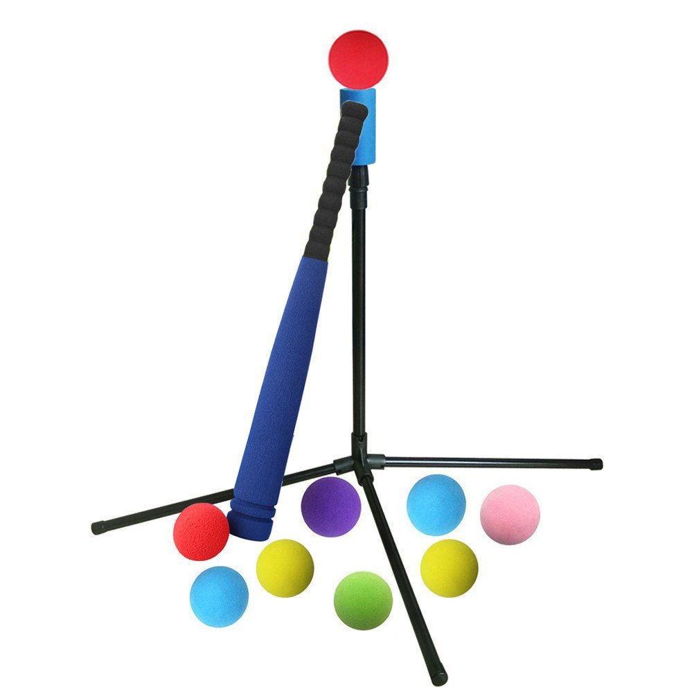 Aoneky Adjustable Kids T-Ball Set, Boys Starter Practice Tball Set, Girls Baseball Training T Ball Set by Aoneky