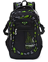 Student School Backpacks for Boys School Bookbag for Kids Student Backpack for Boy (Green)