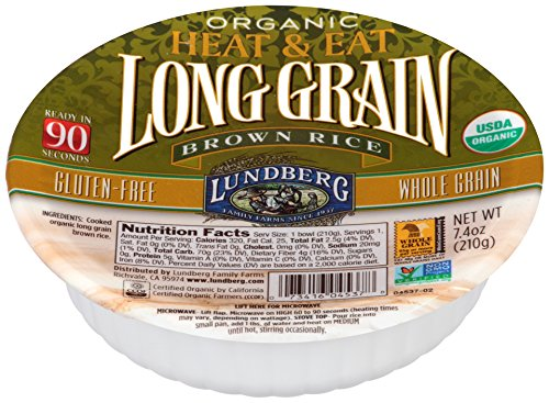 Lundberg Heat and Eat Bowl, Long Grain Brown Rice, 7.4 Ou...