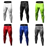 Men Compression Pants Tights Solid Color Quick Drying Running Skinny Leggings