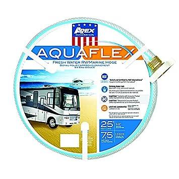 Teknor Apex 7503-25 RV Trailer Camper Fresh Water Aquaflex Water Hose 1/2' X 25'