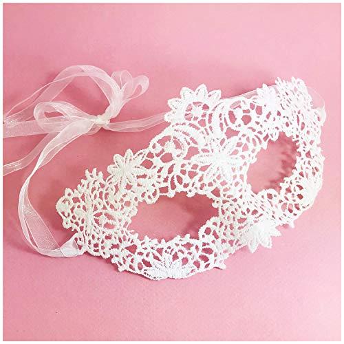 Samantha Peach Lace Coachella Masquerade Mask (Ivory)