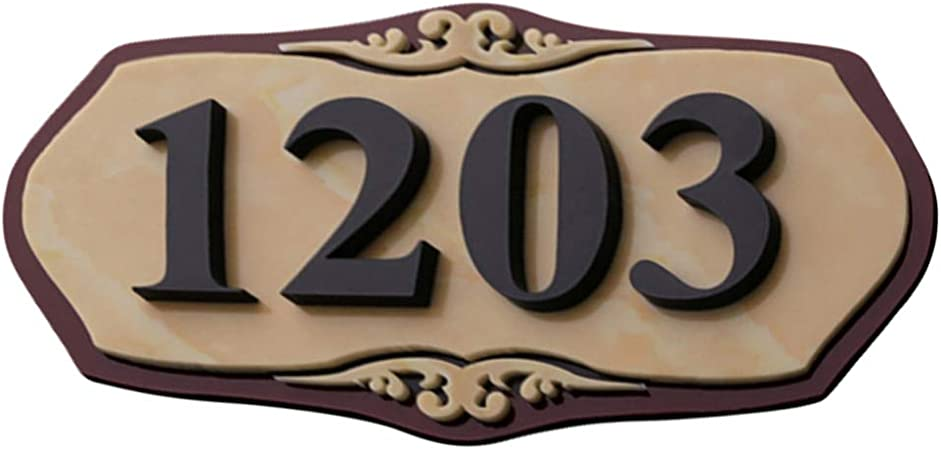 Customized House Number Apartment Sign Street Name Acrylic 20X30CM
