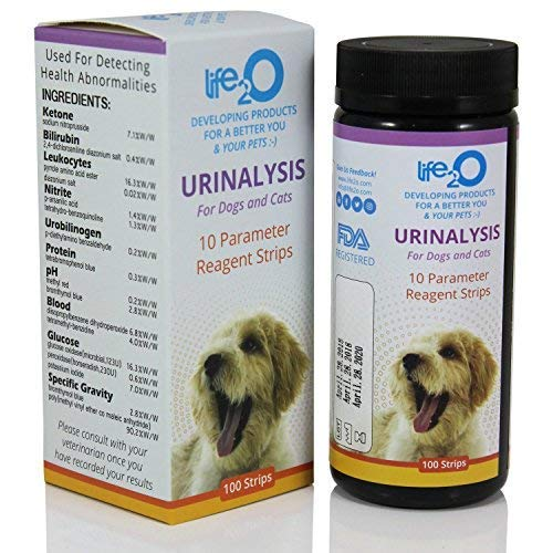 10-in-1 Dog & Cat Urine Test Strip 100ct | Vet-10 Veterinary Grade Pet Wellness Urinalysis Testing Kit | Detect Animal Urinary Tract Infection UTI, Diabetes, Kidney & Liver Function, Infections &More (Diabetic Dog Testing Supplies)