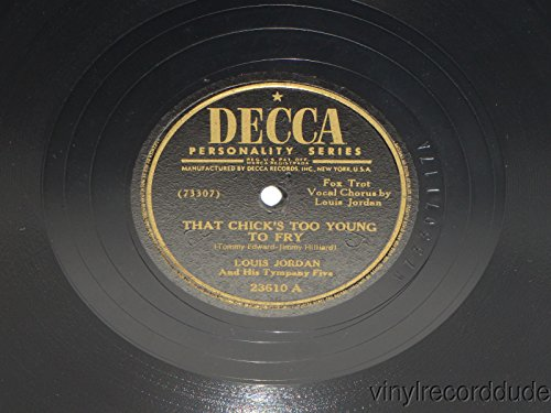 Price comparison product image 78 RPM Louis Jordan,  That Chick's Too Young to Fly–Choo Choo Ch'Boogie,  1946 VG