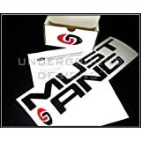 MUSTANG BUMPER INSERTS Rear Letter Inserts Decals 1999-2004 GLOSS BLACK by Underground Designs