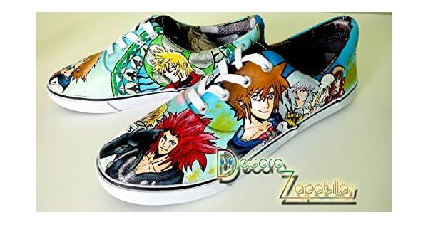 Zapatillas customizadas personalizados lona Kingdom Hearts - regalos para cumpleaños - regalos para el - regalos para ella - regalos aniversario - regalos ...