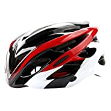 ChezMax Men and Women Specialized Bike Helmet with Visor, Adjustable Sport Cycling Helmet for Road Mountain Biking, Motorcycle, Red