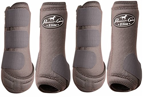 Professional's Choice ♦ VENTECH Elite Equine Sports Medicine Boots Set of 4 Colors (Charcoal, Medium) (Sports Choice Medicine)