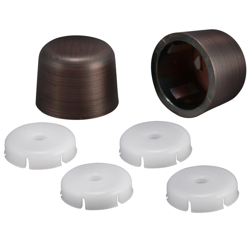 Plumb Pak PP835-30VBL Universal Round Toilet Push-On Bolt Caps, Oil Rubbed Bronze