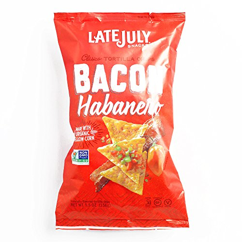 Late July Bacon Habanero Tortilla Chips 5.5 oz each (6 Items Per Order, not per case) for $<!--$15.91-->