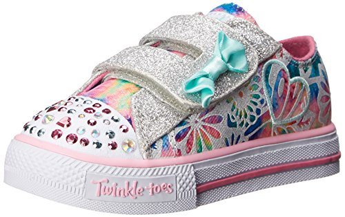 Skechers Kids Shuffles Light-Up Sneaker (Toddler), Pink/Multi, 5 M US Toddler by Skechers Kids