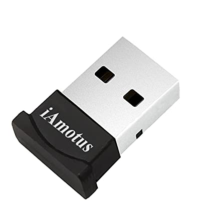 Adaptador de Bluetooth, iAmotus Adaptador USB Bluetooth V4.0+ EDR Dongle Inalámbrico Bluetooth para PC con Windows XP/7/8/10/Vista, Compatible con Auriculares, Altavoces, Teclados, Ratónes, Impresora