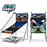 MD Sports 3-In-1 Basketball Game, Included Baseball & Football Games