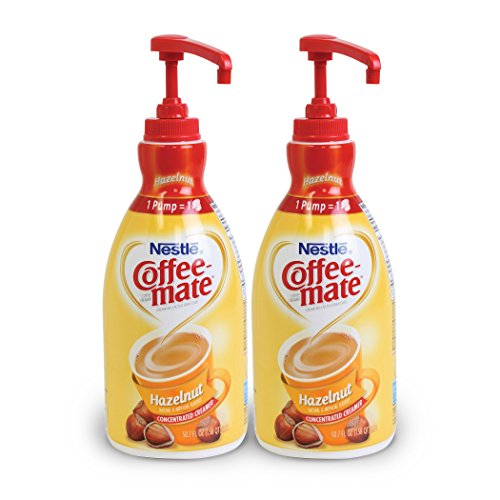 Price comparison product image NESTLE COFFEE-MATE Coffee Creamer, Hazelnut, 1.5L liquid pump bottle, Pack of 2