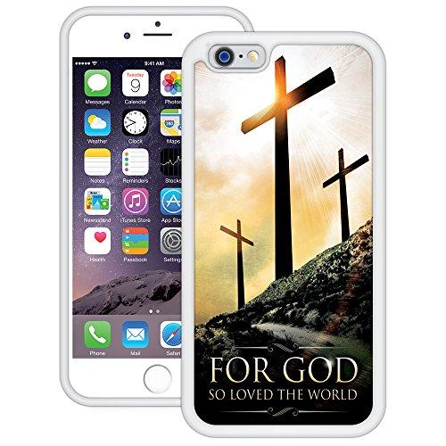 Denn also hat Gott die Welt geliebt   Christlich   Handgefertigt   iPhone 6 6s (4,7')   Weiß TPU Hülle