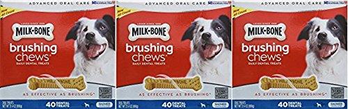 Cheap Milk Bone Brushing Chews (Small/Medium) 40 Dental Treats 31.4oz by Milk-Bone