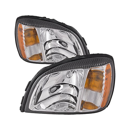 Cadillac Deville Headlights Headlamps Set New Pair