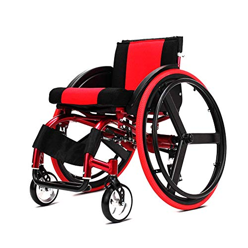 WJSWL Sports and Leisure Wheelchair, Folding Light Portable Trolley, Disabled Elderly Propelled Wheelchair Driving Medical Wheelchair Walker