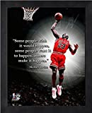 Michael Jordan Chicago Bulls NBA ProQuotes® Photo (Size: 9'' x 11'') Framed