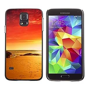 Caucho caso de Shell duro de la cubierta de accesorios de protección BY RAYDREAMMM - Samsung Galaxy S5 - Red Beach
