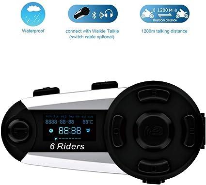 Soft Earpiece 4.2 Bluetooth Motorcycle Helmet Headset Music Player USB Port