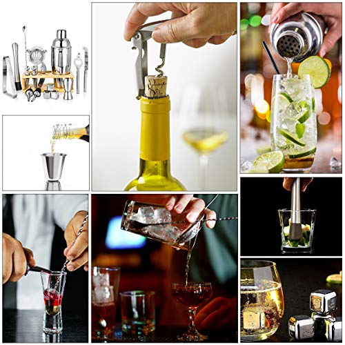 25oz Cocktail Shaker 17pc Bartender Kit with Stand,Professional Stainless Steel Bar Tool Set Bartending Kit Perfect for Drink Mixing Experience by Segauin (Image #2)