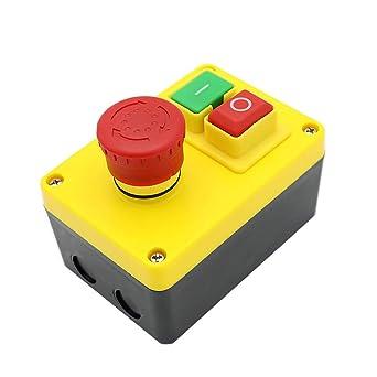 KEDU KJD17D-2 Caja de Interruptores Mediante Pulsación de Botón de ...