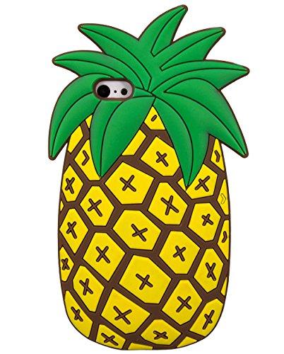 Fruits ananas la forme 3D Jaune Housse étui silicone pour Apple iPhone 7 © Sloth Cases
