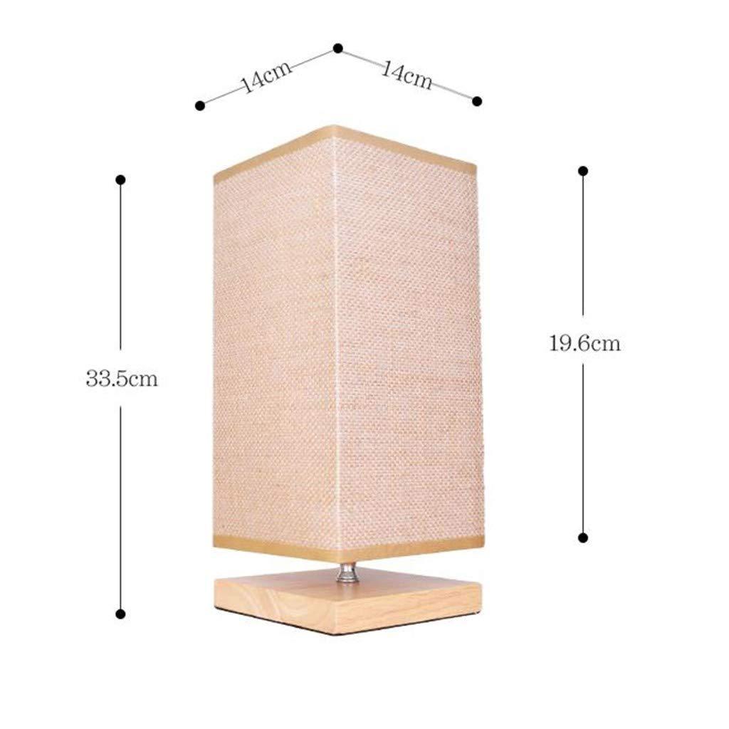 SJN Lámpara de mesa de luz cálida Dormitorio LED lámpara de cabecera, lámpara de cabecera simple de la personalidad creativa moderna nórdica decorativo de madera maciza de ahorro de energía de calenta: