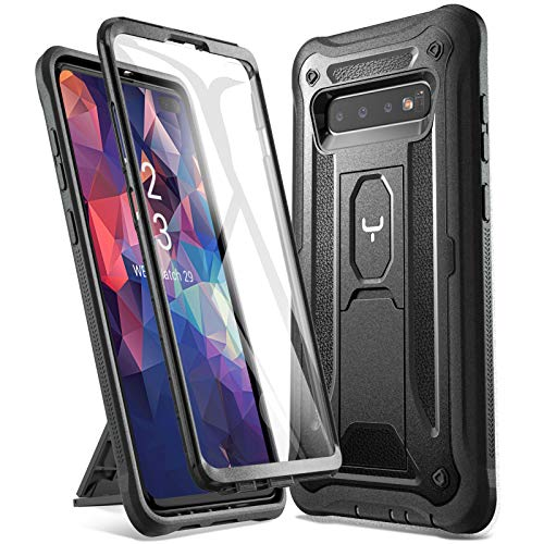 YOUMAKER Kickstand Case for Galaxy S10 Plus, Built-in Screen Protector Work with Fingerprint ID Full Body Heavy Duty…